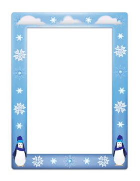 winter holiday borders for word documents.