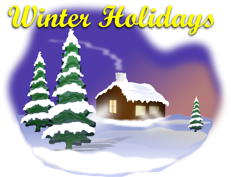 Free Clipart: Winter Holiday Scene.