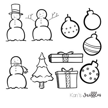 Winter and Holiday Clipart Pack.