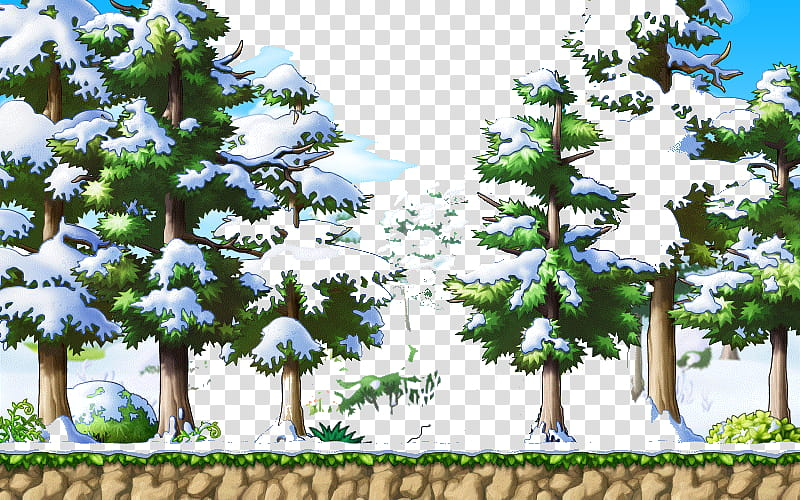 Resource Winter Holidays, Snow capped trees icon transparent.