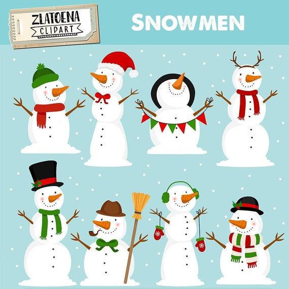 Snowman Clipart Winter clip art Snow clipart Snowman vector graphics PNG  snowmen clip art Holidays clipart Snowman illustration Christmas.