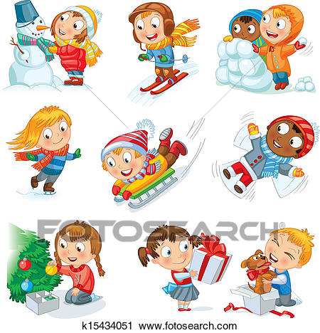 Winter holidays Clipart.
