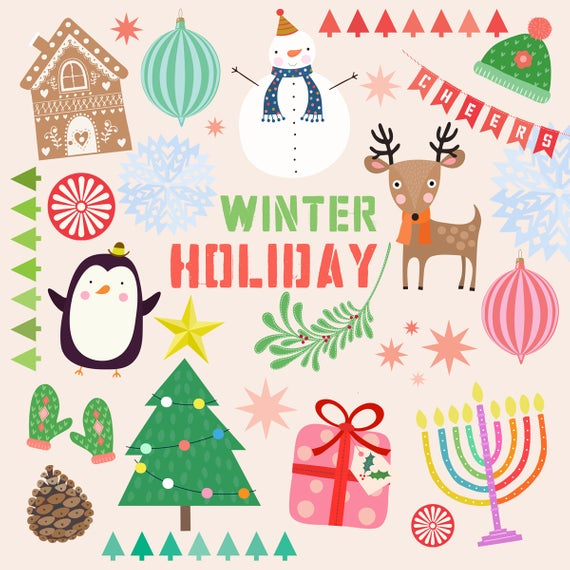 Winter Holiday Clipart.