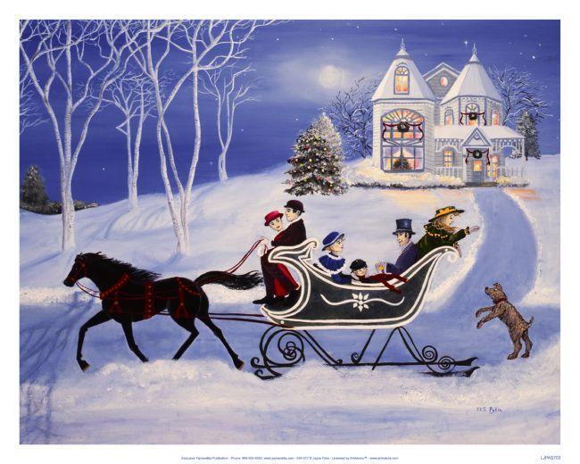 one horse open sleigh clip art.
