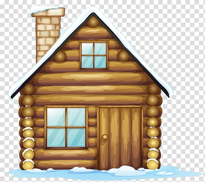 Brown house illustration, Gingerbread house Christmas.
