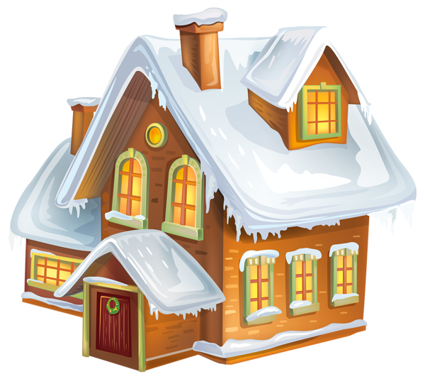 Houses clipart winter Transparent pictures on F.