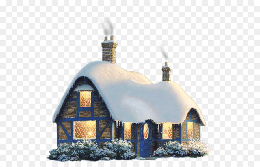 winter houses clipart transparent #3