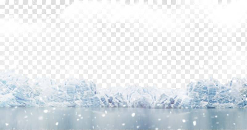 White clouds illustration, Ice Snow White , Snow falling on.