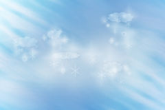 Snow Flakes Clouds Illustration Royalty Free Stock Photos.