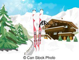 Winter idyll Vector Clipart Illustrations. 13 Winter idyll clip.