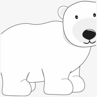 White Polar Bear Transparent Clip Art Image.