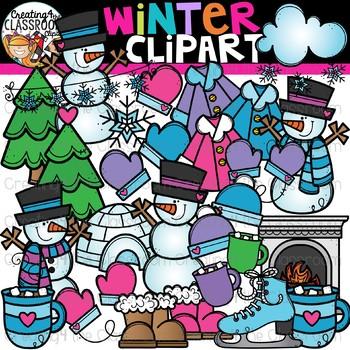 Winter Clipart {Seasons Clipart}.