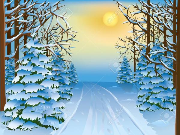 Winter Scene Free Clipart.