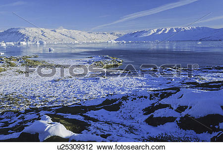 Stock Photo of Early winter impressions in Hare fjord.