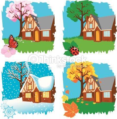 spring, summer, winter, fall.