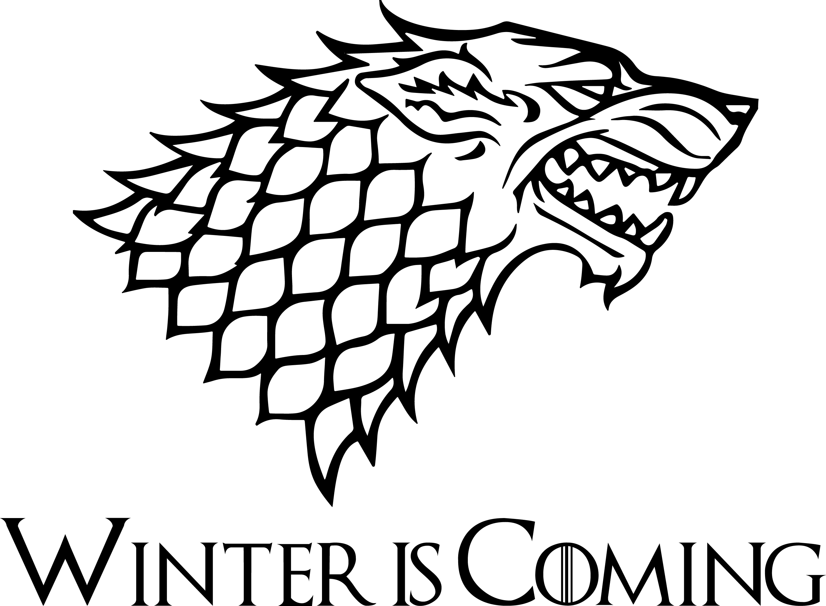 A Game of Thrones Bran Stark House Stark Decal.