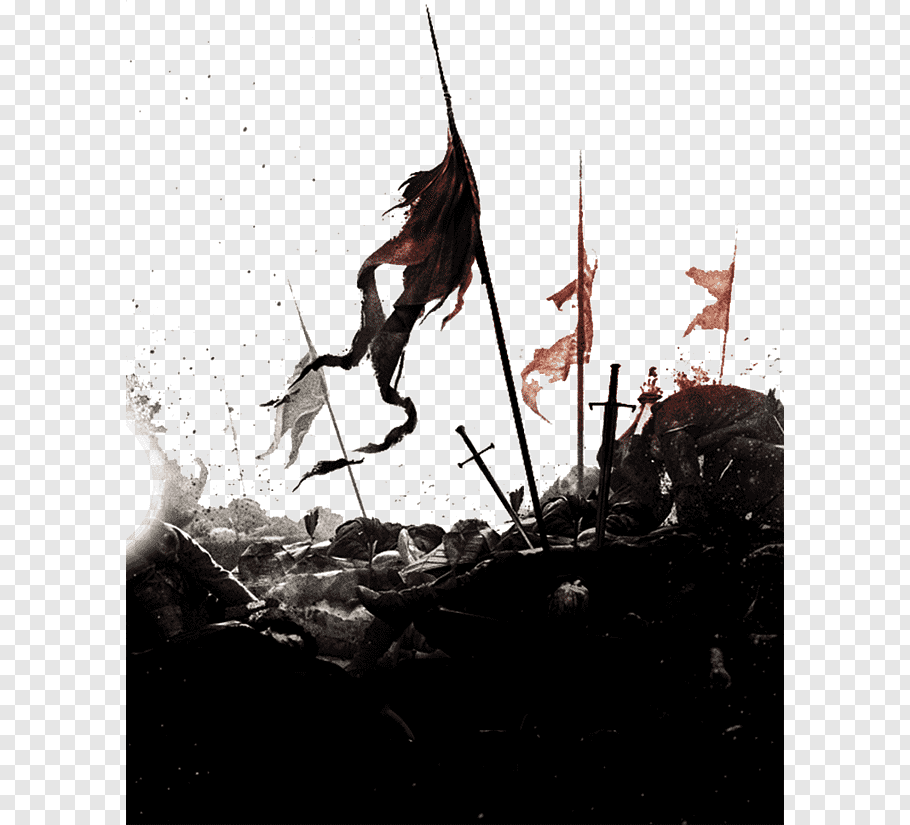 Sword and spear with flag illustration, Jaime Lannister Arya.