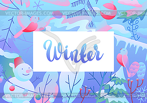 Background with winter items.