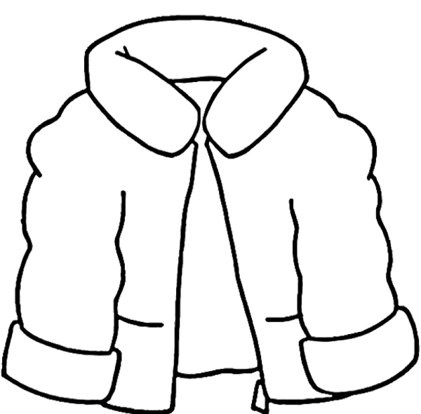 winter jacket clipart black and white - Clipground