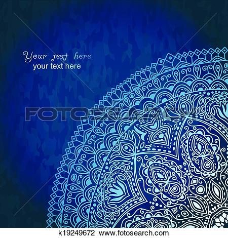 Clipart of Vintage invitation decoration on grunge background with.