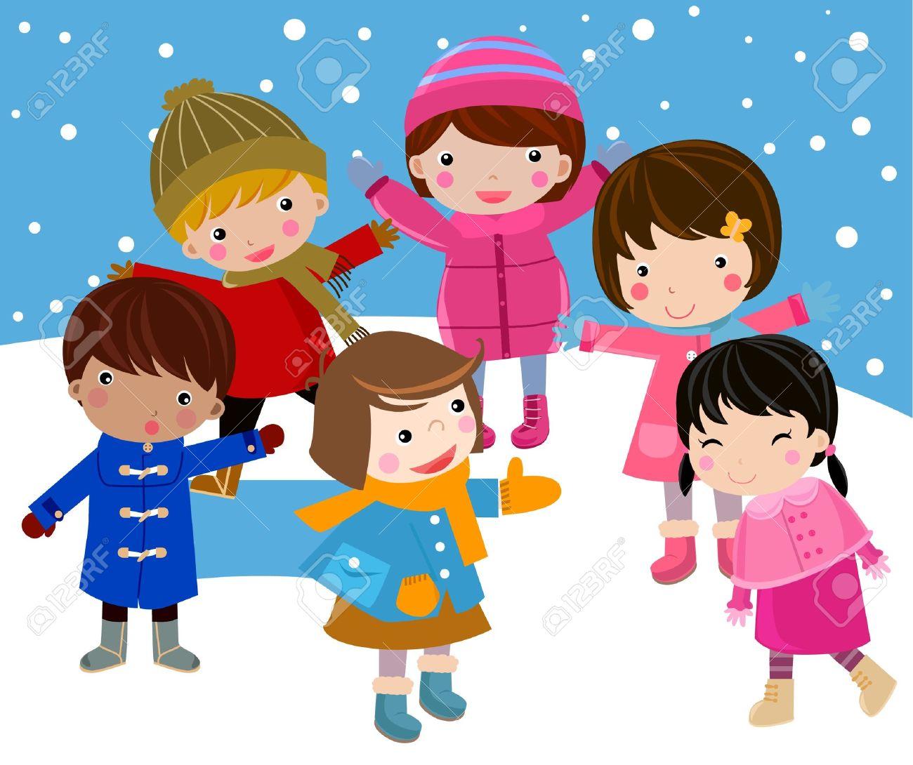 winter and children.