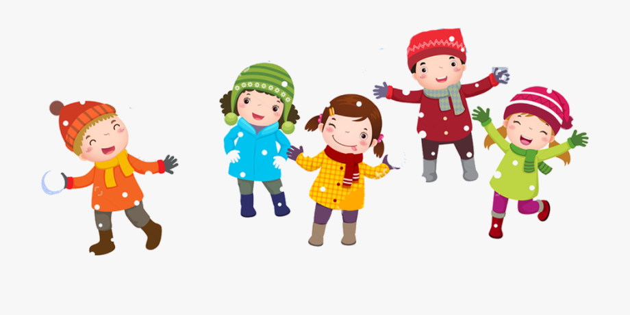 28 Collection Of Kids Playing In Snow Clipart.