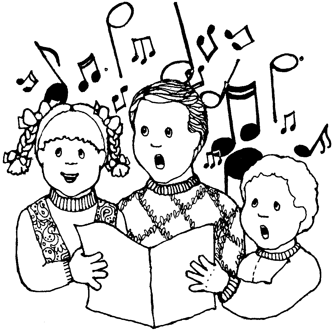 winter kids singing clipart - Clipground
