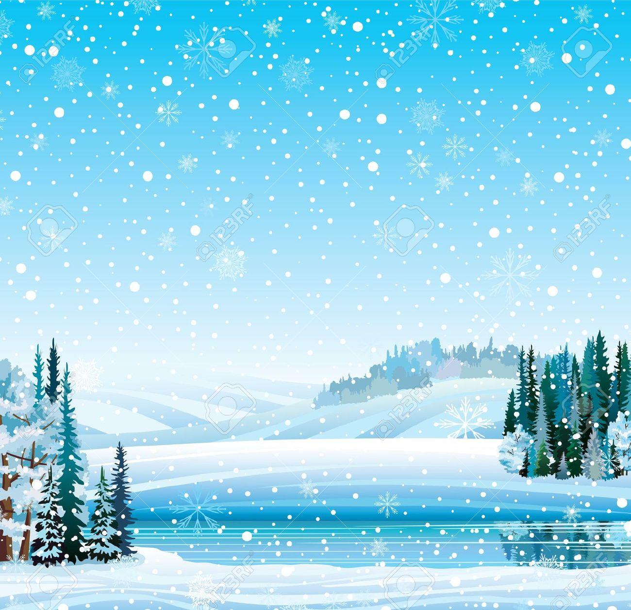 Frozen lake clipart.