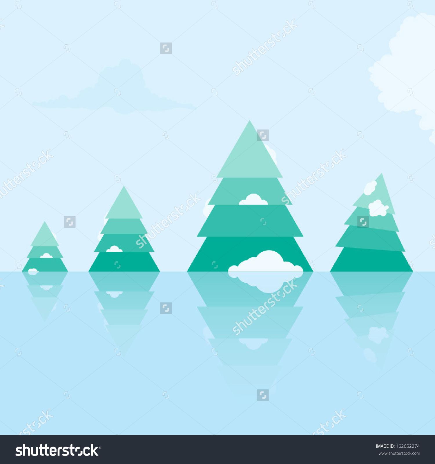 Frozen Landscape Clip Art.