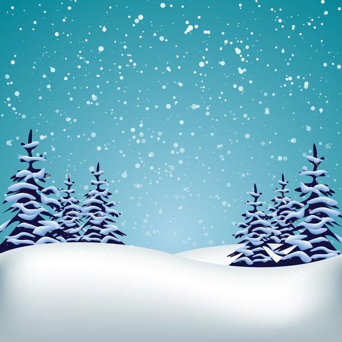 Winter landscape clipart free.