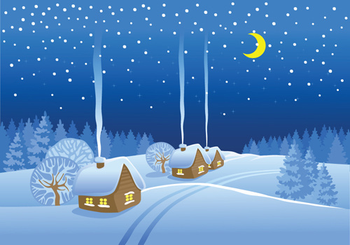 Winter landscape clipart free vector download (5,282 Free vector.