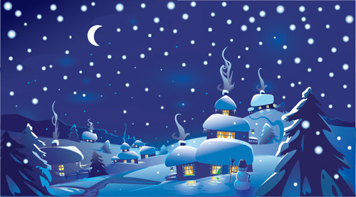 Winter landscape clipart free vector download (5,693 Free vector.