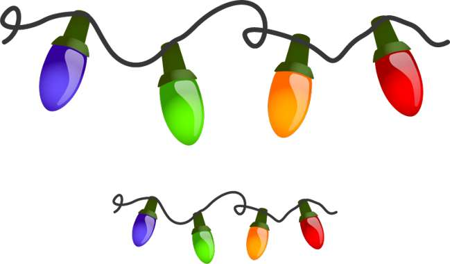 Winter Lights Clip Art.