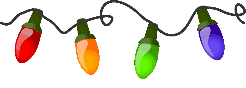 Holiday lights clipart.