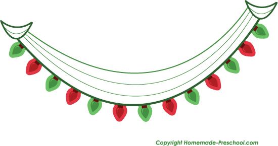 Free Christmas Lights Clipart.