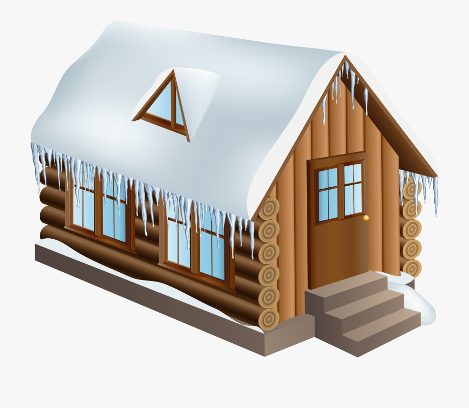Snow House Winter Clip Art.