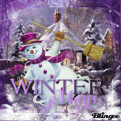 Winter magic snowman and north star clipart.