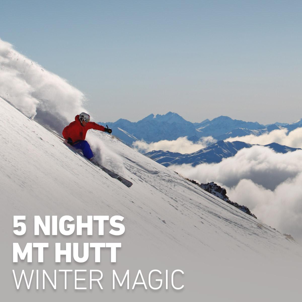 5 Nights Mt Hutt Winter Magic.