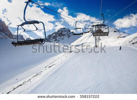 Ski Slope Stock Photos, Royalty.