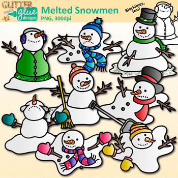Melting Snowman Clipart Worksheets & Teaching Resources.