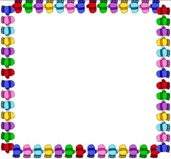 FREE Colorful Winter Mittens Border Background Powerpoint.