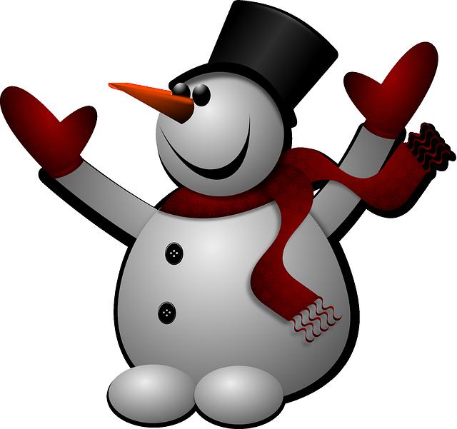 Free photo Winter Mood Snow Man Postcard Cap Cold.