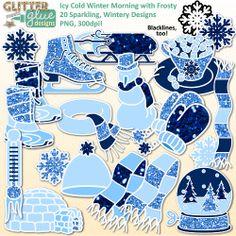 Winter Morning Clip Art.