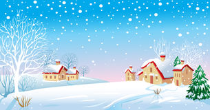 House Winter Village Stock Photos, Images, & Pictures.