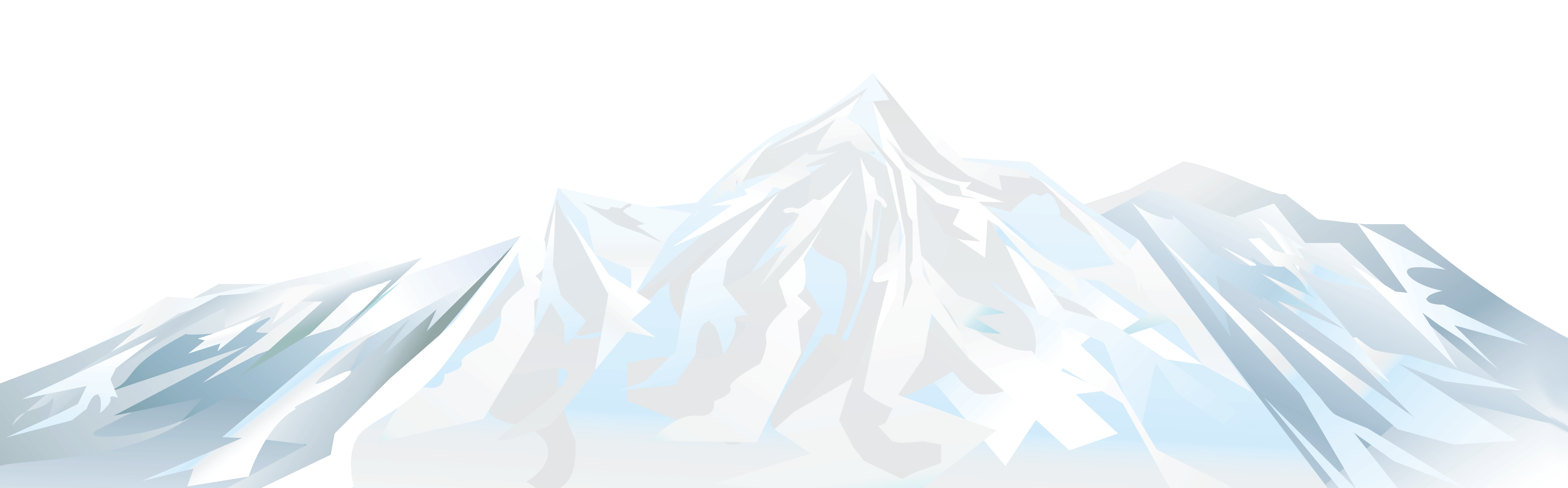 Winter Snowy Mountain PNG Clipart Image.