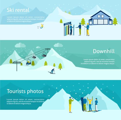 Ski Resort Banner Set.