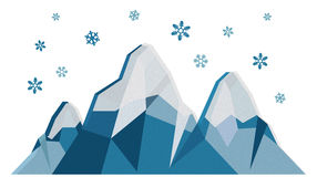 Winter Mountains Stock Vector.