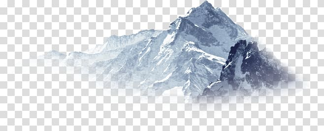 Snow mountain transparent background PNG clipart.
