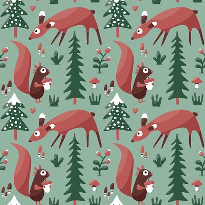 Winter Mushroom Clip Art, Vector Images & Illustrations.