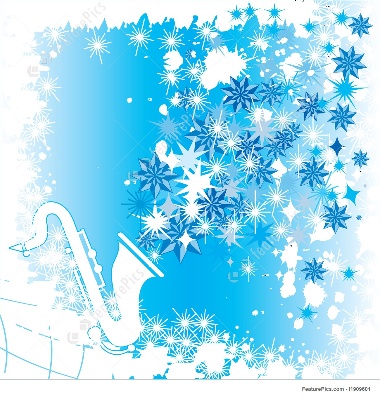 Illustration Of Winter Music.